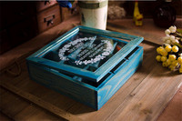 2017 Multifunction Wooden Storage Box Dala House Jewelry Box Makeup Boxes Wooden Storage Container For Desktop