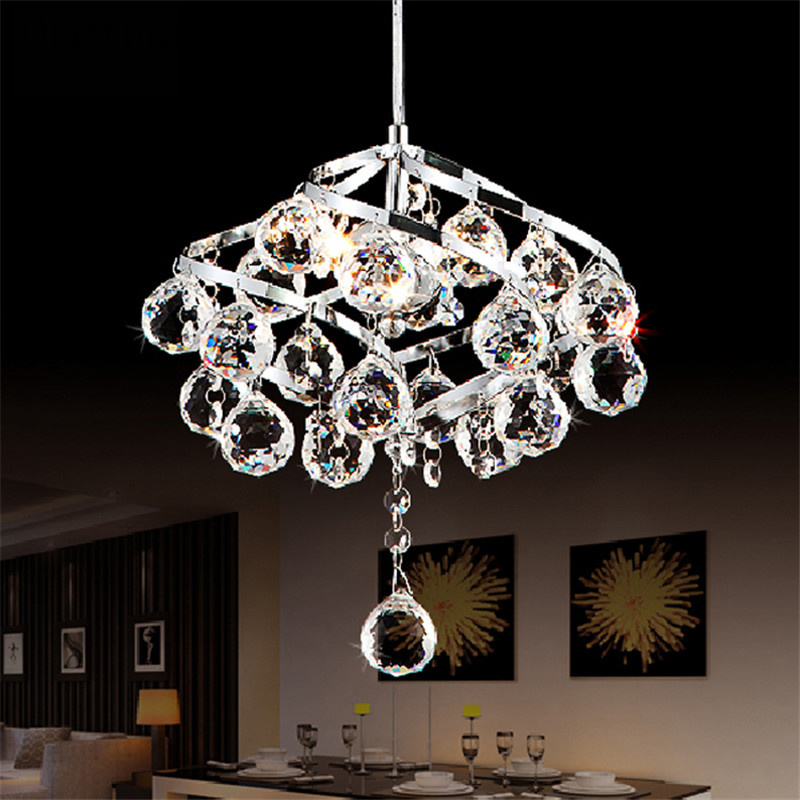 Simple Modern LED Crystal Chandelier Light Restaurant Chandelier Bedroom Study Lamp European Style Chandelier Postage Free