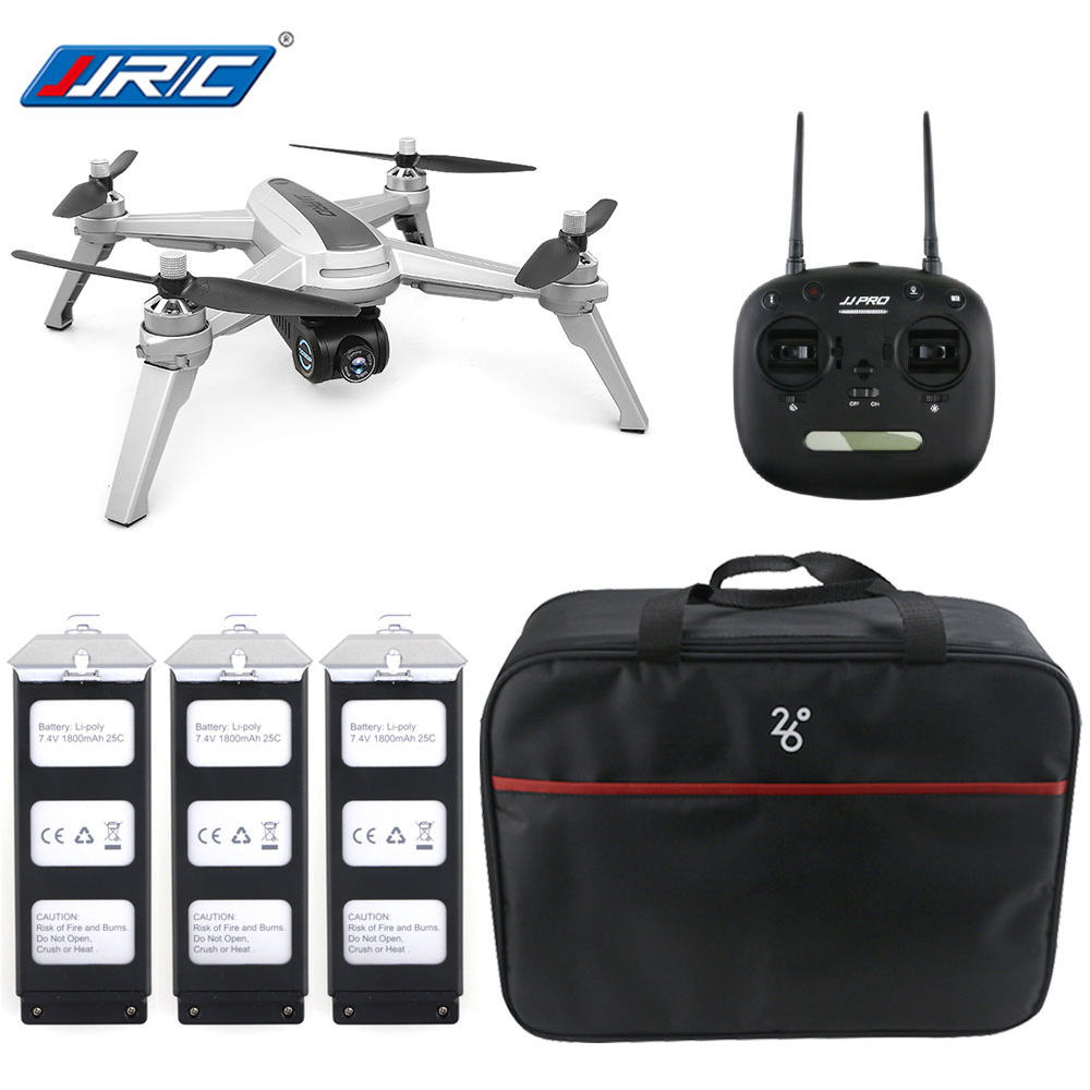 JJRC JJPRO X5 5G WiFi FPV RC Drone GPS Positioning Brushless Helicopters 1080P Camera Point Of Interesting Follow 3 Batteries