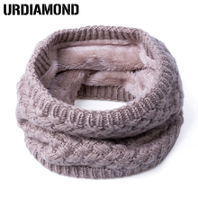 2018 New Fashion Winter Scarf For Women Men General Baby Scarf Thickened Wool Collar Scarves Boys Girls Neck Scarf Cotton Unisex(China)