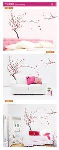 Große Kirschblüten Sakura Schmetterling Schmetterlinge Wandtattoo Vinyl Anlage Hintergrund Wand Decor 60x90 cm