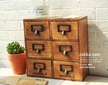 Один день ZAKKA серии шесть деревянные решетки ящик шкафа 6 настольных косметика хранения