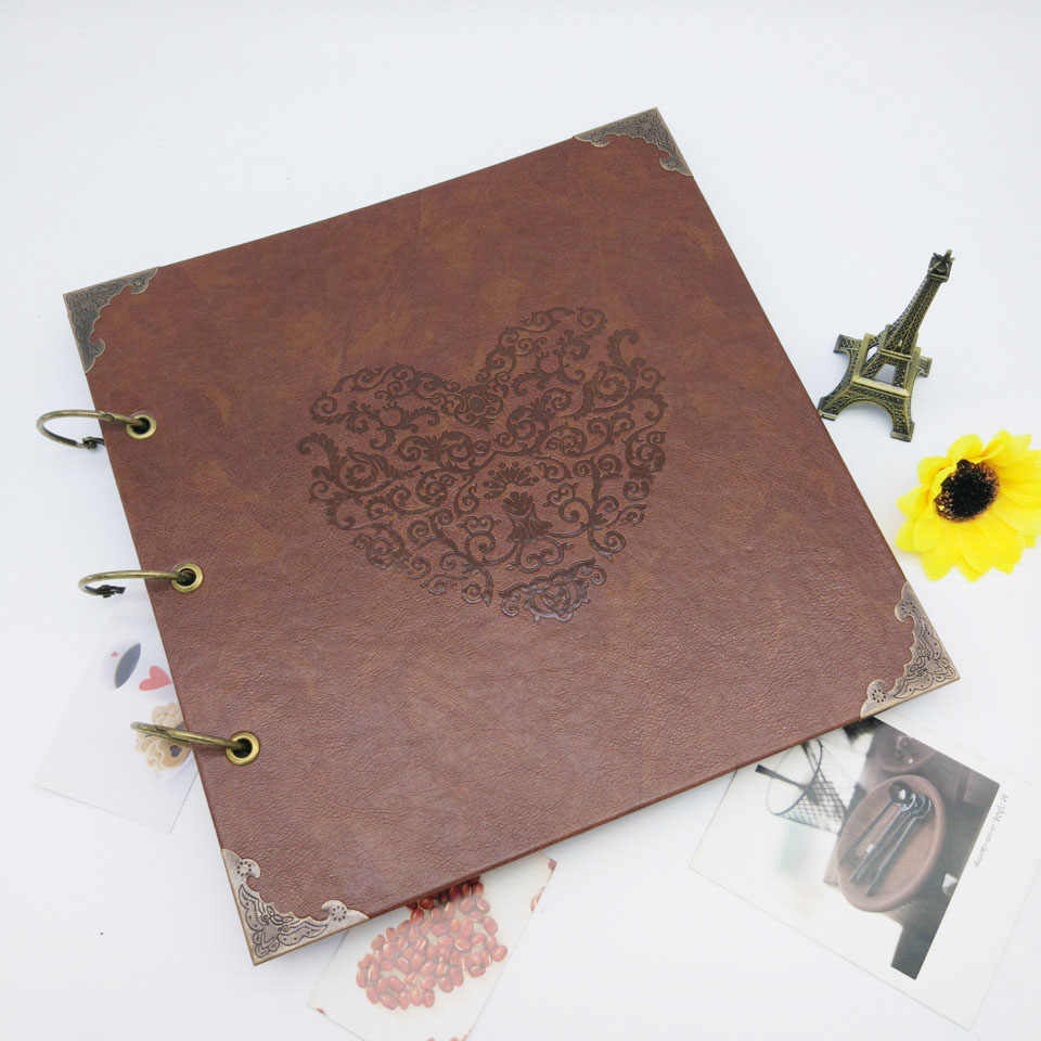 10 Inch Vintage Photo Album Personalized Commemorative Scrapbook DIY Photo Albums Birthday Gift for Friends