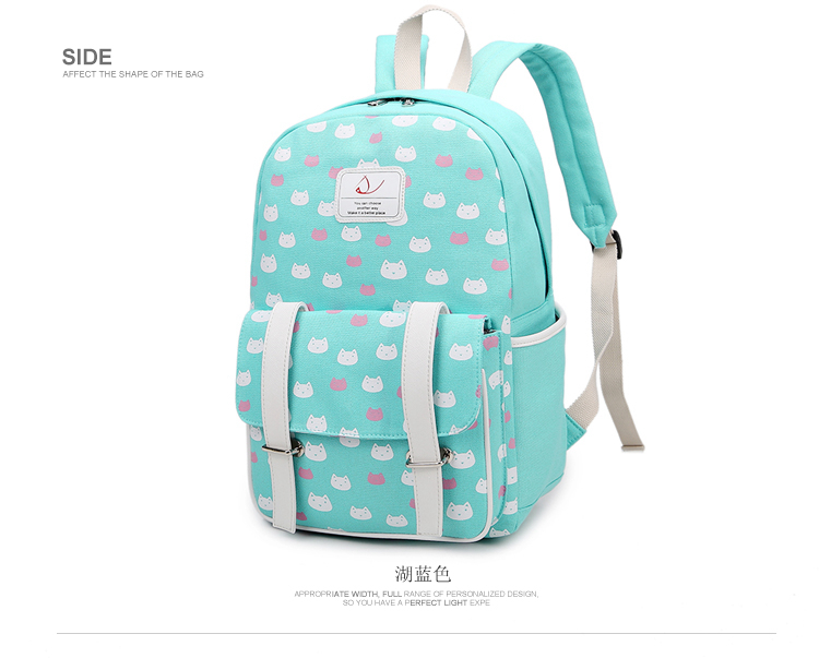 Canvas Shoulder Bag Cute Cartoon Print High School Student Bag High Capacity 4 - 5 - 6 Grade Primary School Student Bag big capacity high quality canvas shark double layers pen pencil holder makeup case bag for school student with combination coded lock