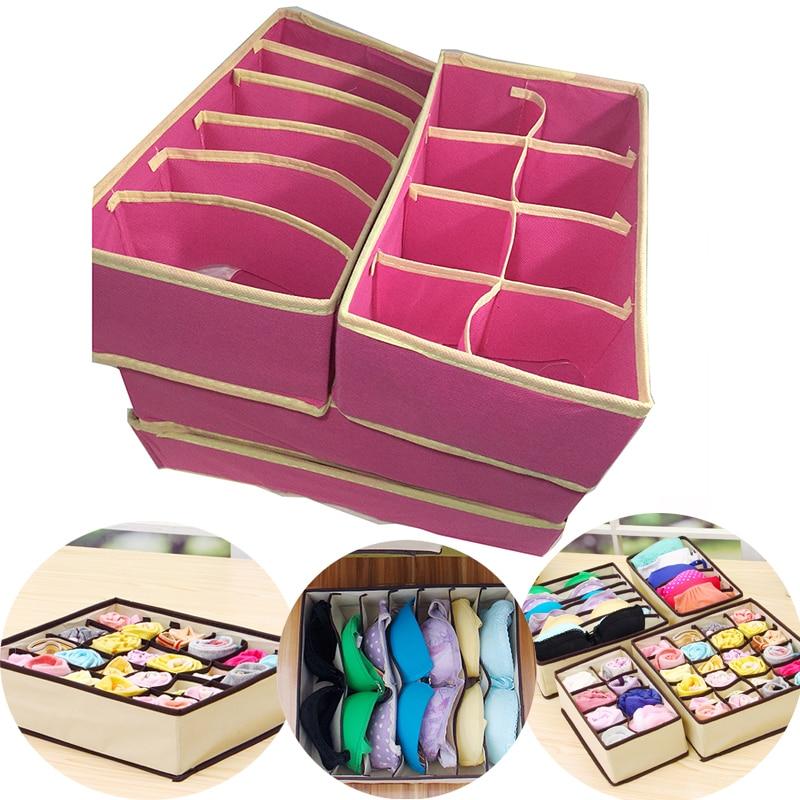 Aliexpress.com : Buy 4Pc Underwear Bra Organizer Storage Box Foldable  Drawer Closet Multi Size Organizers Foldable Drawer Closet Separator  Container From ...