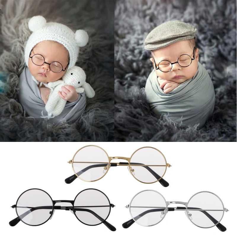 Newborn Baby Girl Boy Flat Glasses Photography Props Gentleman Studio Shoot