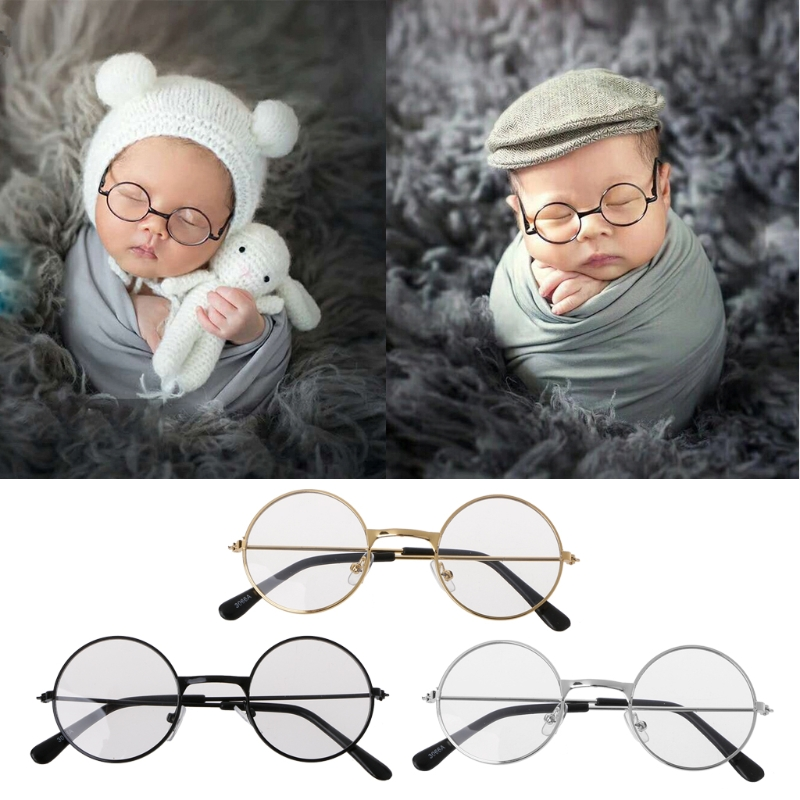Newborn Baby Girl Boy Flat Glasses Photography Props Gentleman Studio ShootNewborn Baby Girl Boy Flat Glasses Photography Props Gentleman Studio Shoot