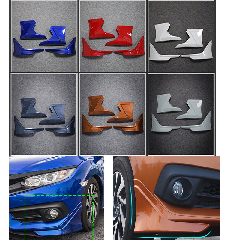 Modolo Car Styling ABS Front And Rear Bumper Bodykit Angle Cover Protection Plate For Honda 2016-2017 10th Civic FC1 ...