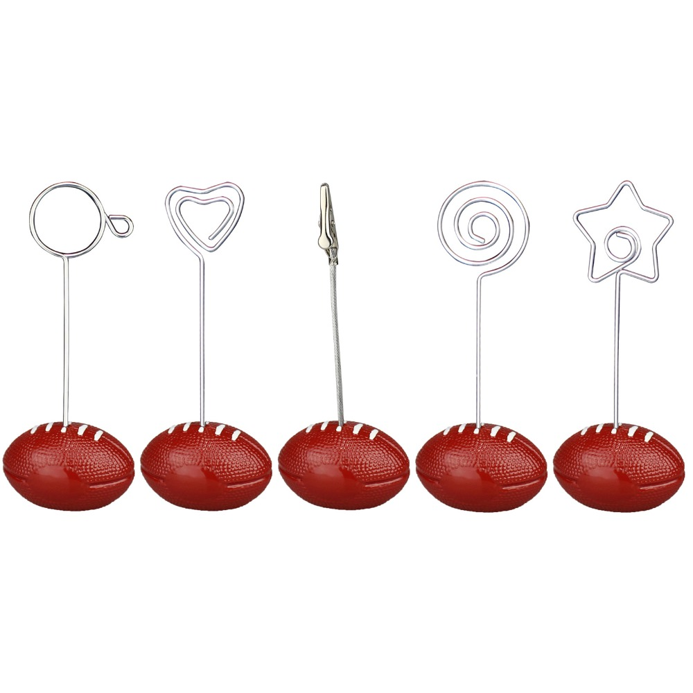 america football rugby base wire photo clip memo holder. Black Bedroom Furniture Sets. Home Design Ideas