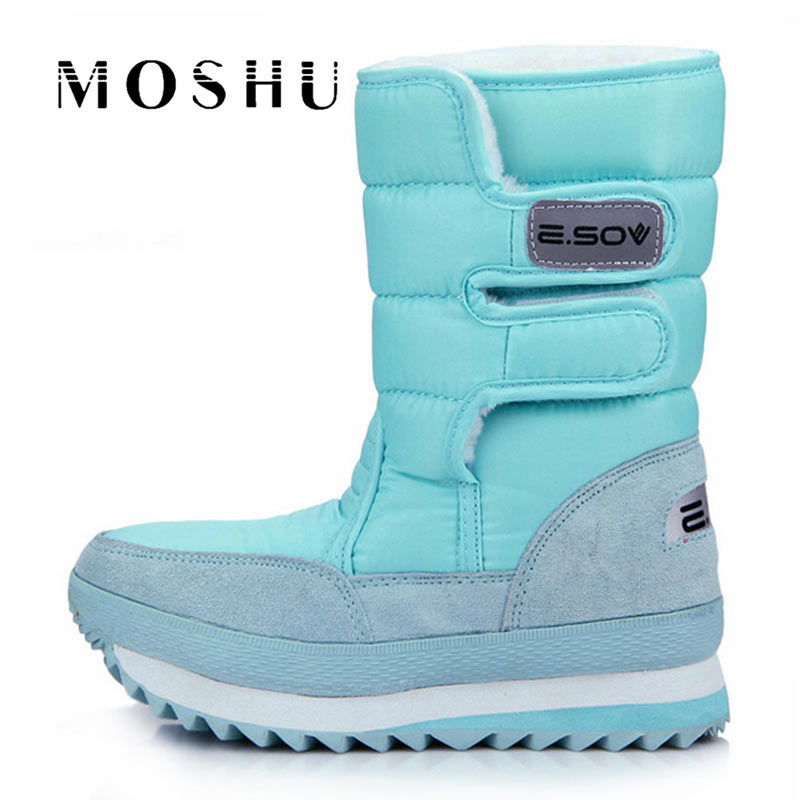 Winter Women Boots Fashion Girls Ankle Snow Boots Ladies Plush Insole Thick-Soled Waterproof Shoes For Woman Warm Botas Mujer women snow boots winter warm fur ankle boots couple thick soled cotton shoes woman flats waterproof slip on botas mujer zapatos