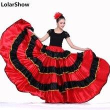 Костюмы для испанских танцев для женщин, юбка для фламенко, юбка для танца живота, испанская одежда, платье для фламенко, юбка для танцев