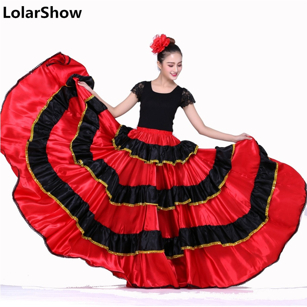 Spanish Dance Costumes For Women Flamenco Dance Skirt Belly Dance Skirt Spanish Clothing Flamenco Dress Dance Skirt