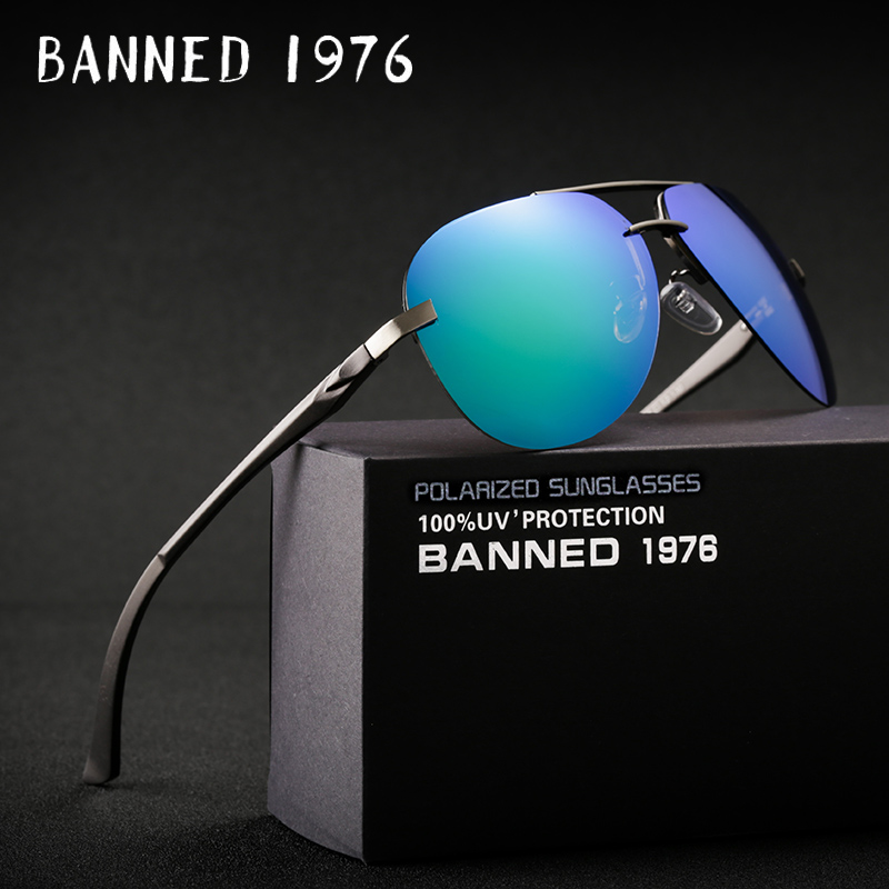 Magnez alumini HD modë polarizuar Syze dielli gra burra që drejtojnë diell Syzet e cilësisë së mirë okulos de sol me kuti origjinale të markës