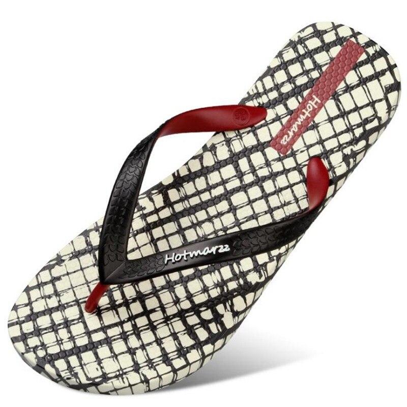 812088a3dcea New Men Slippers Lattice Flip Flops Summer Beach Sandals Pool Shower  Bathroom Slides Shoes