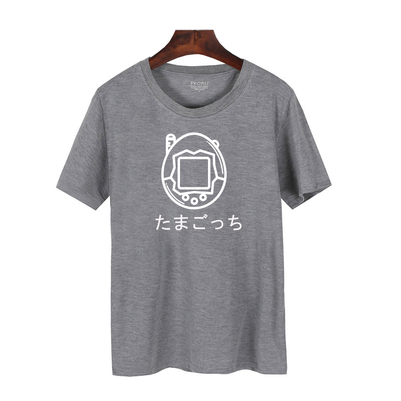 Pkorli Japanese Tamagotchi Toy T Shirt Men Women Casual Short Sleeve Gamer T-Shirt Hipster Funny Graphic Tee Shirt Femme S-XXXL