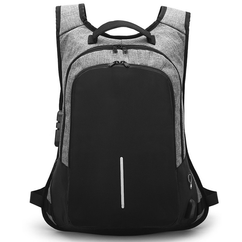 Anti Theft Backpack Men USB Charge Laptop Backpack Waterproof Fashion Male Business Trav ...