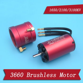 1PC 3660 Brushless Motor KV 1650/2100/3100 Marine Water Cooling  5mm Shaft High Power 3S-6S Lipo Parts for RC Boat Model