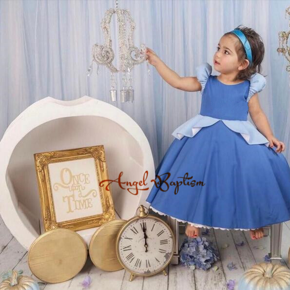 2017 Sweet Dark Blue ruched baby girls princess dress tutu dress 1st birthday prom party outfit ватрушки sweet baby тюбинг sweet baby glider 105 silver blue