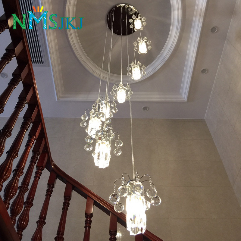 Suspended Style 32 Floating Staircase Ideas For The: Modern LED Staircase Lights Long Pendant Light Double