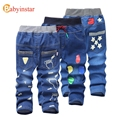 Jeans For Kids 2017 Kids Fashion Denim Pants Baby Boy Trousers For Autumn Spring Children Foot Print Pattern Denim Jeans Pants