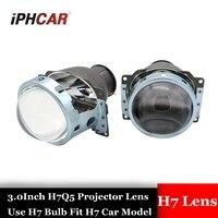 3.0 inch H7Q5 Bixenon car hid Projector lens metal holder h7 model AC xenon bulb retrofit lens mofify Diy assembly kit