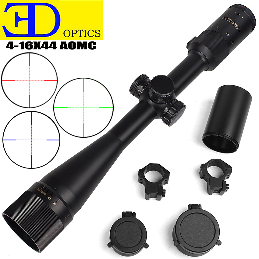 KEY 4-16x44AOMC High Quality Classic Riflescopes For Chasse Aim Scope Hunting Scope Hunting Airsoft Gun New Zeiss Scope