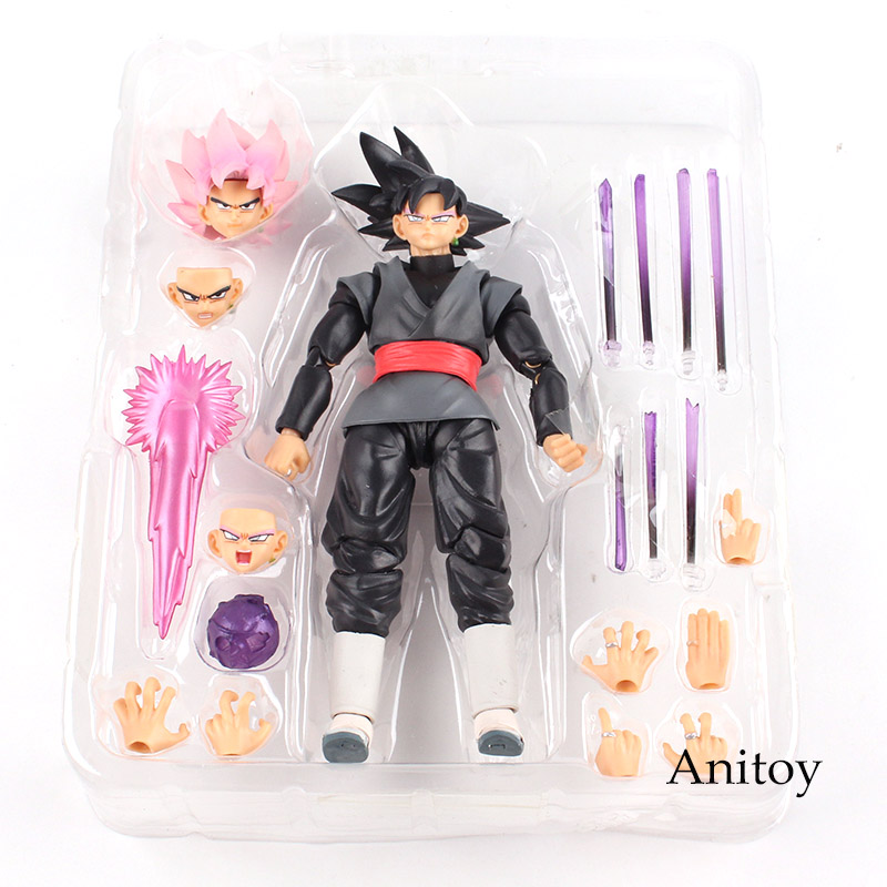 Action Figure Dragon Ball Super Super Saiyan Rose Goku Black Gokou Black Pvc Collectible Model Toy High Resilience Toys & Hobbies