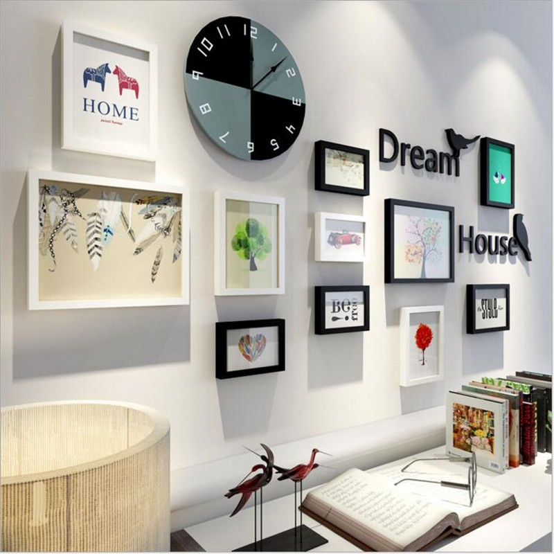 2017 New Simple Modern European Decorative Photo Wall Frames Home ...