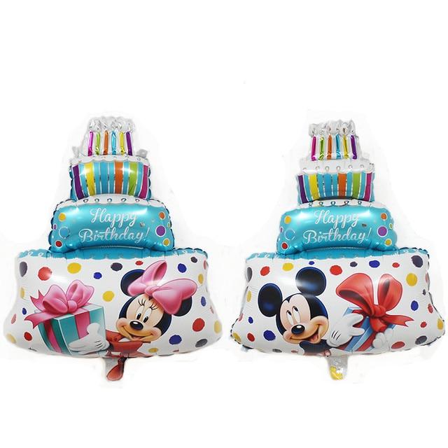 TSZWJ B-014 Free Shipping Mini Minnie Mickey. Cake Aluminum Balloon Children Toys Party Birthday Decorative Balloon Wholesale
