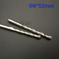 2pcs 6mm 52mm Extend Length Longer Ballnose Two Flutes Spiral End Mills Round Double Flute Milling