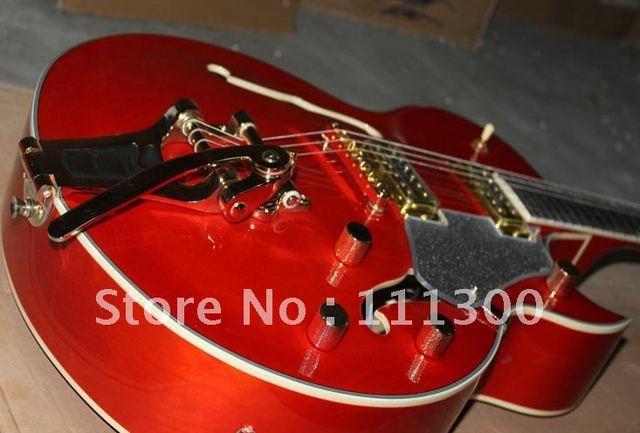 hot Musical Instruments Custom Shop 335, Stop bar mauve Electric Guitar