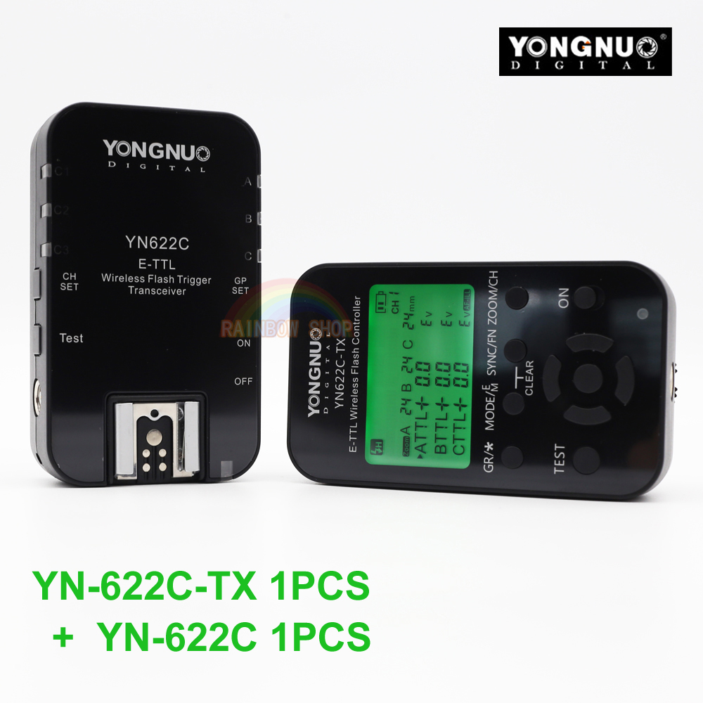 Yongnuo YN-622C + YN-622C-TX KIT Wireless TTL HSS Flash Trigger for Canon 1200D 1100D 1000D 800D 750D 650D 600D 550D 500D 5D II yongnuo yn 622c yn 622c tx kit wireless ttl hss flash trigger for canon 1200d 1100d 1000d 800d 750d 650d 600d 550d 500d 5d ii