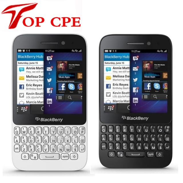 Blackberry os smartphone qwerty teclado q5 blackberry restaurado original del teléfono móvil 2g ram + 8g rom 5.0mp cámara