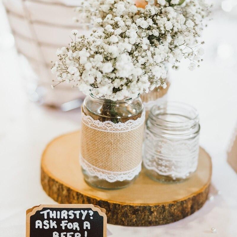 Us 0 95 20 Off 1pc Diy Wooden Crafts Log Sheet Vintage Wood Wedding Table Decoration Centerpieces Diy Handcraft Wood Tag Rustic Wedding Decor In