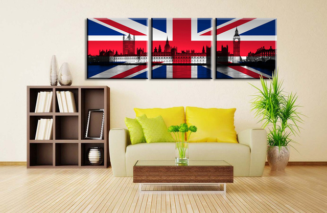 3 Piece Modern Home decortive Painting on the wall uk Big Ben bridge ...