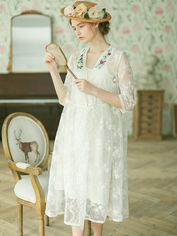 Линетт CHINOISERIE Лето Для женщин органза вышивка Мори платья для девочек