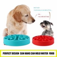 TAILUP Healthy Food Bowl Slow Eating Anti-Choking Anti Choke Dog Cat Pets Feeder Bowl Home Pet Accessories 4 Colors optional