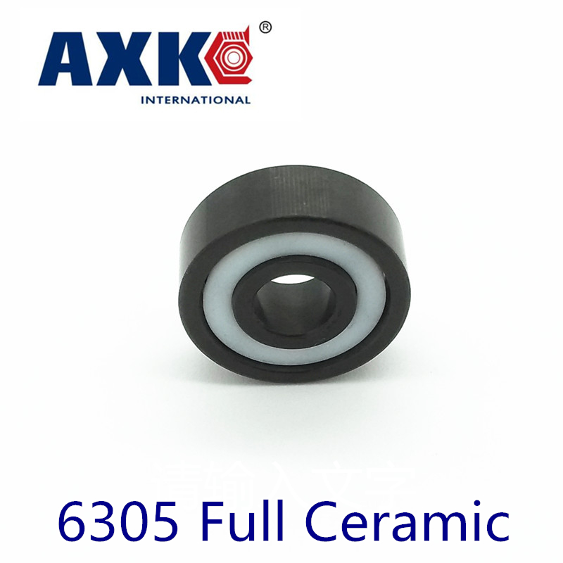 2018 Promotion Real Axk 6305 Full Ceramic Bearing ( 1 Pc ) 25*62*17 Mm Si3n4 Material 6305ce All Silicon Nitride Ball Bearings цена