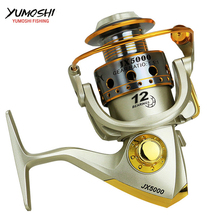 Cheap Fishing wheels pesca fish spinning reel 5.5:1 12BB carretilhas de pescaria fishing accessories 1000-7000series
