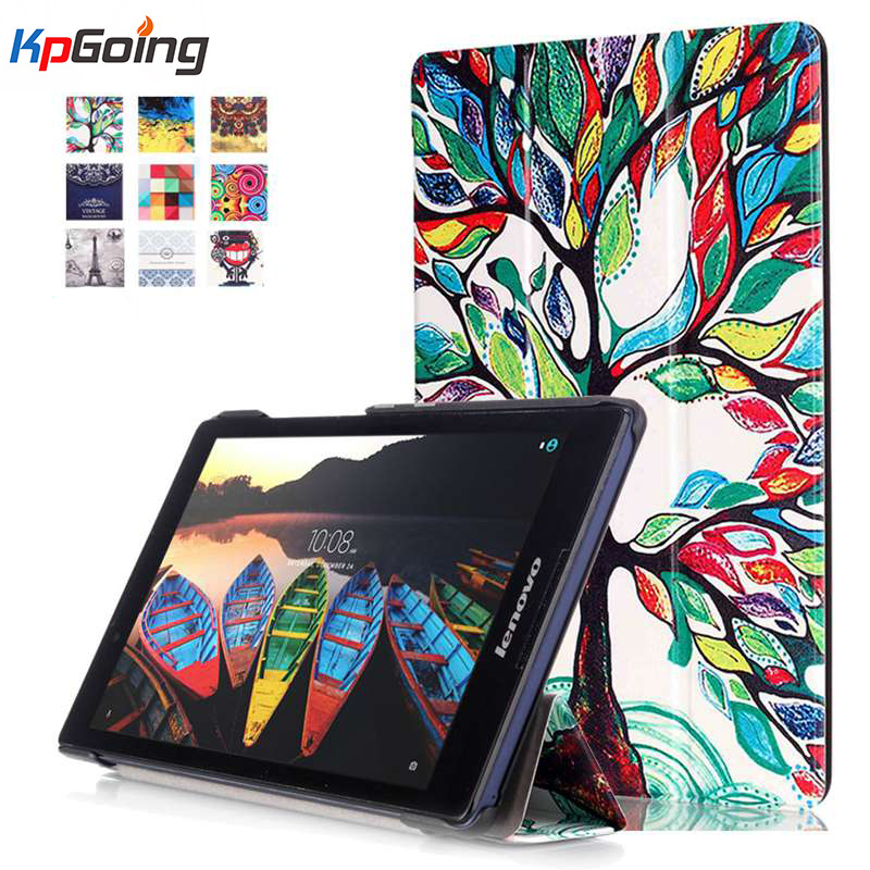 2016 New Tab3 8 inch Tablet TB3-850M Case Print Flip Cover For Lenovo Tab3 Tab 3 8 inch Tablet case Tab2 A8 A8-50F Slim case new slim folio bracket for lenovo a7 20f standing tablet cover for lenovo tab 2 a7 20 flip protective tablet case