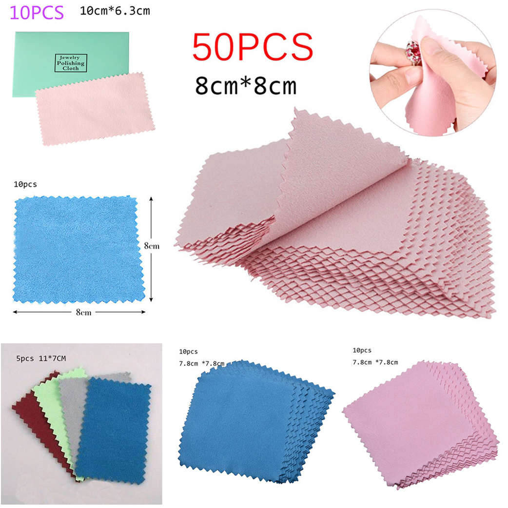 5pcs  10pcs  50pcs  Clean Cleaning Cloth Polishing Cloth For Sterling   Platinum Jewelry Anti Tarnish