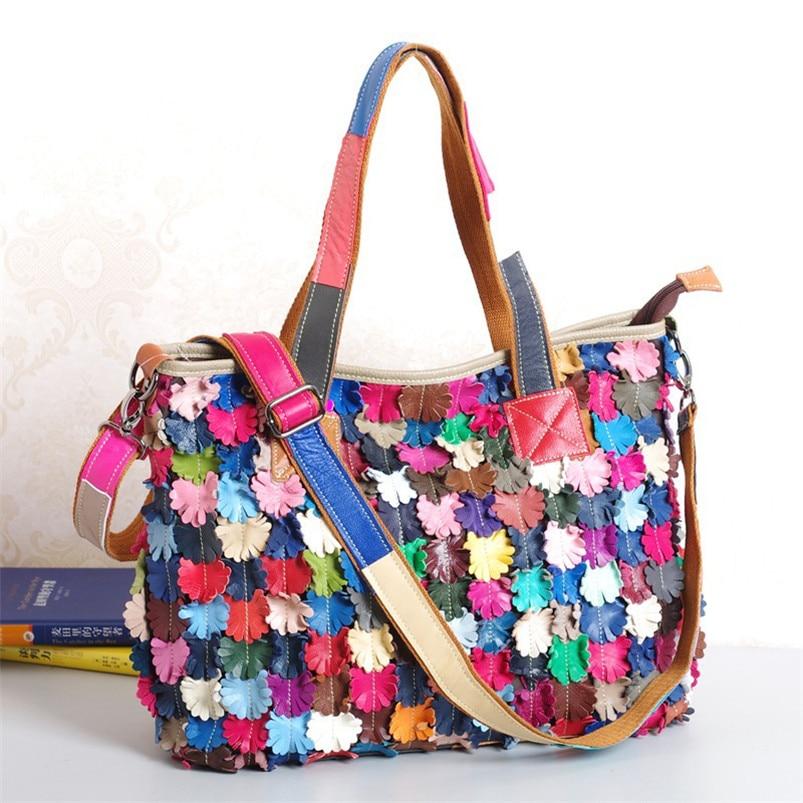 Caerlif 2016 women font b handbag b font handmade bag national casual trend colorant match soft