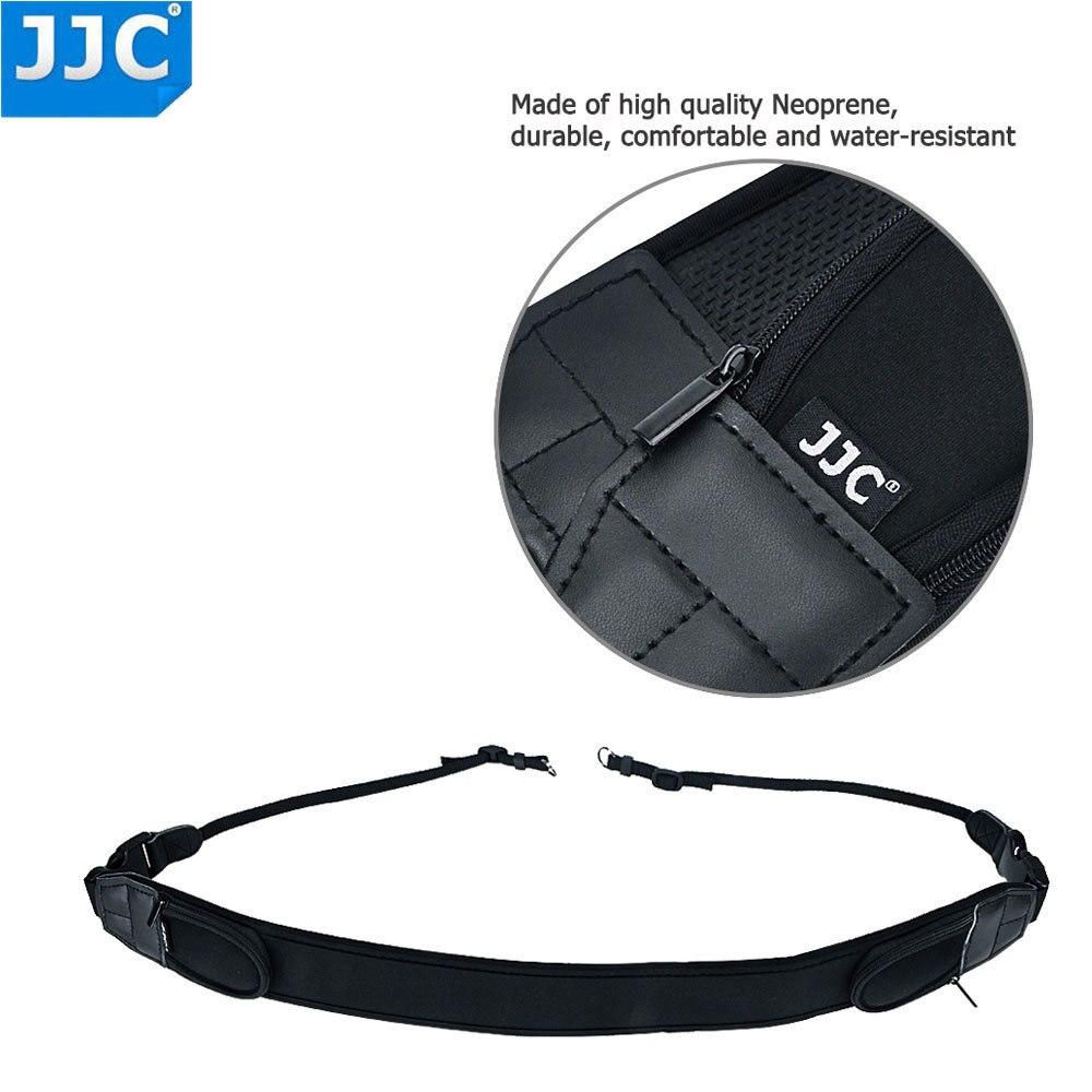 JJC Neoprene DSLR Camera Belt Wide Quick Release Black Neck Shoulder