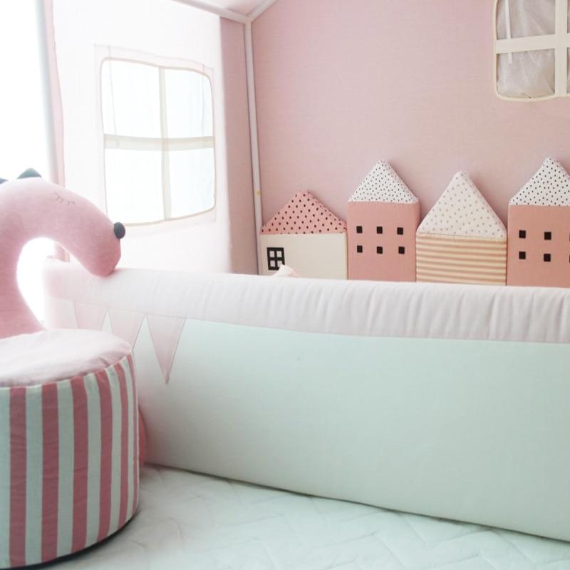 KAMIMI Cute Baby Łóżko ogrodzenie 4 sztuki zestaw piękny Gąbka - Pościel - Zdjęcie 5