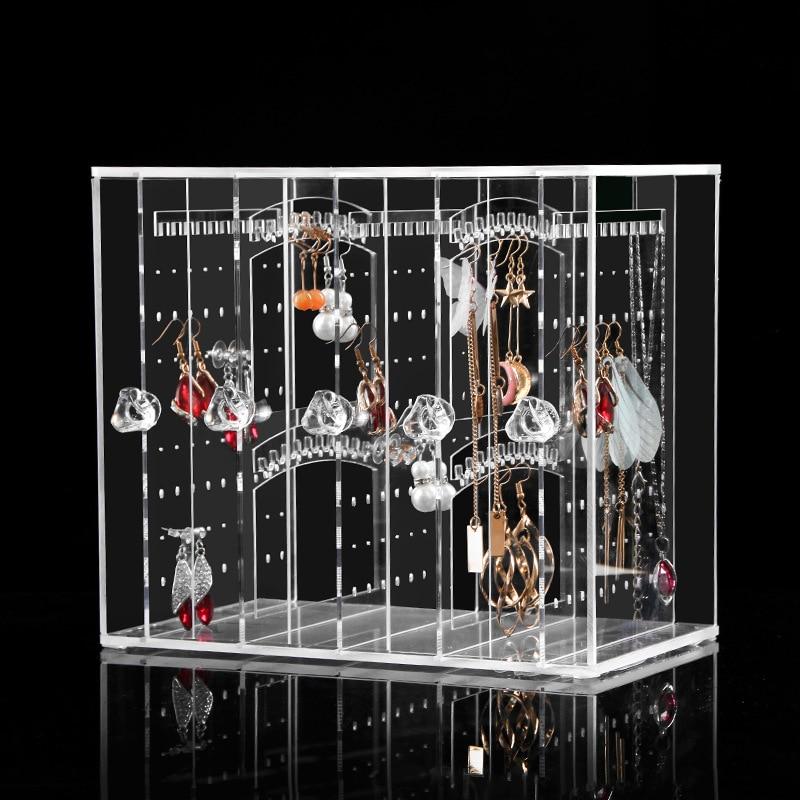 Nouveau bijoux en cristal Transparent acrylique montrant étagère collier Bracelet Rack boucles d'oreilles cintre Nail Art présentoir