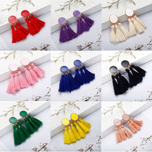F6 Bohemian Tassel Earrings For Women 2018 Multi Color Statement Earrings Fashion Jewelry Female Drop Earring Christmas Gifts(China)