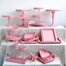 SWEETGO розовый торт стенд кекс лоток 1 шт. клетка для птиц день рождения торт инструменты украшение дома конфеты бар десерт стол вечерние поставщик