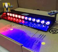 24W 12 power led windscreen warning flashing lights strobe lamp windscreen sucker lamp blue red amber white