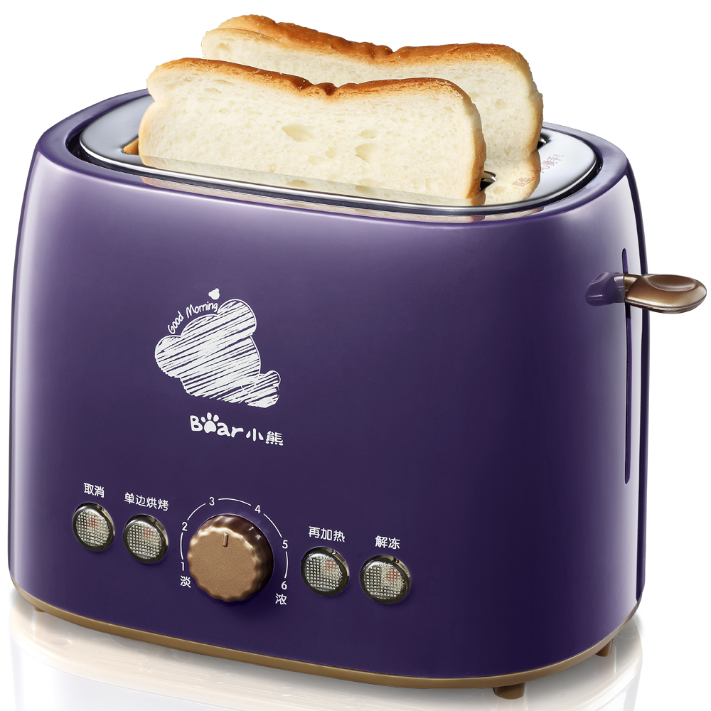 Bear Toaster Household Stainless Steel Liner Bread Maker Machine For Breakfast cukyi 2 slices bread toaster household automatic toaster breakfast spit driver breakfast machine