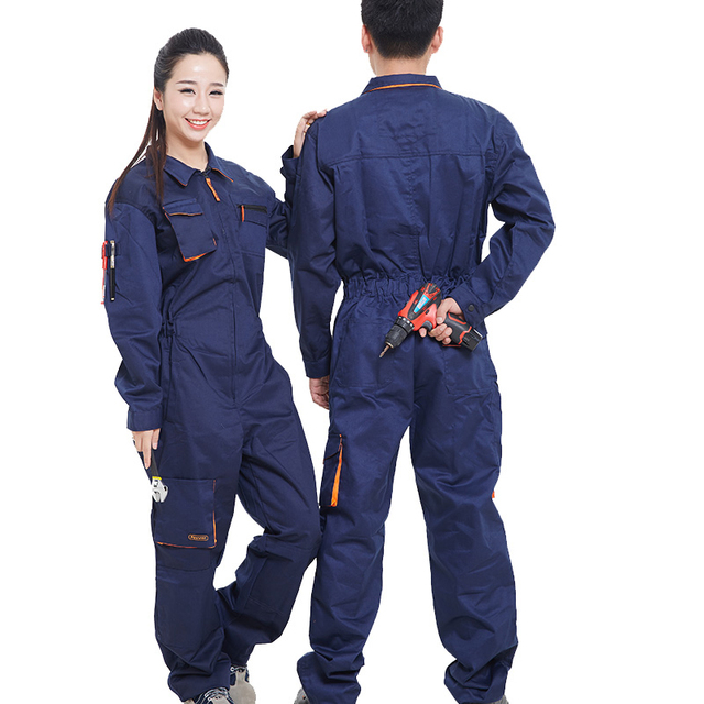 d59aee46253 Work Clothing Men Women Long Sleeve Coveralls High Quality Overalls Worker  Repairman Machine Auto Repair workwear